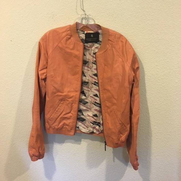 Maison Scotch Jackets & Blazers - Maison Scotch coral bomber jacket